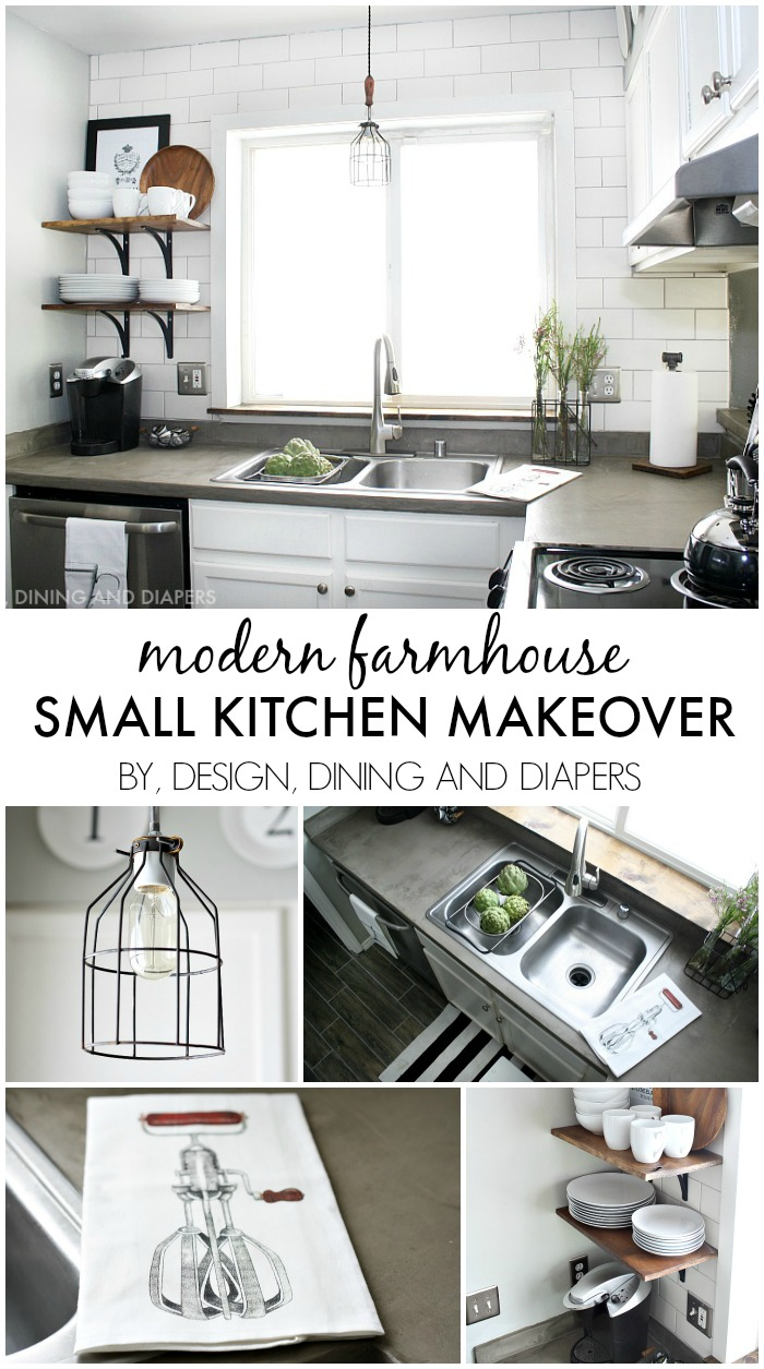 Small Kitchen Makeover With A Modern Farmhouse Style Great Ideas For Decorating E On Budget Designdininganddiapers Jpg