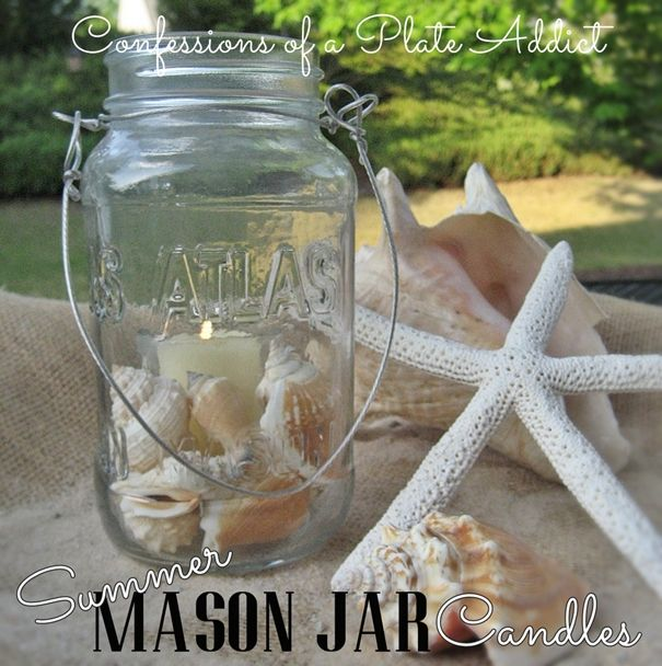 Summer Mason Jar Candles by Confessions of a Plate Addict