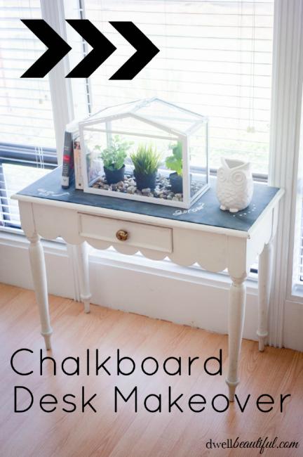 Chalkboard Desk Makeover