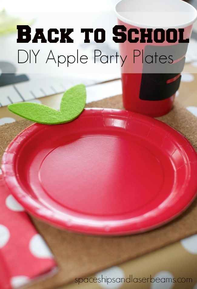 DIY Apple Party Plates by Spaceships and Laserbeams