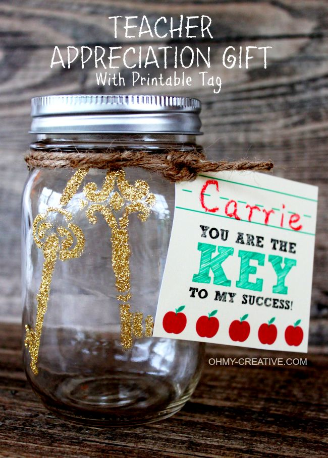 Teacher Appreciation Gift with Printable Tag by Oh My Creative