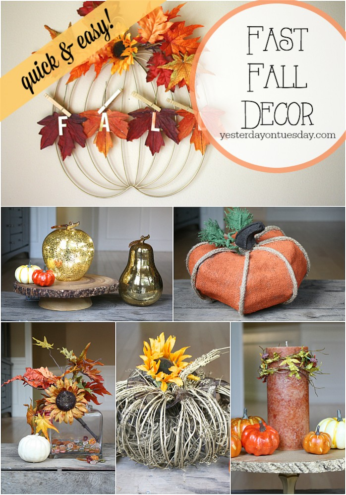 Super Quick and Easy Fall Decor Ideas #falldecor #fallcrafts