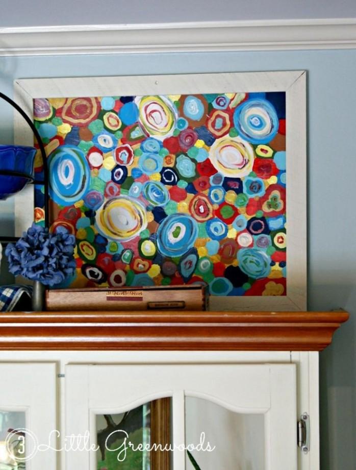 Abstract Circle Painting