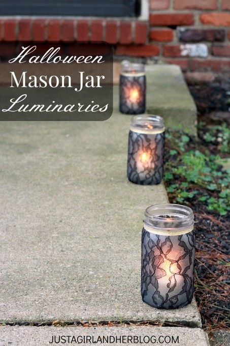 Halloween Lace Luminaries