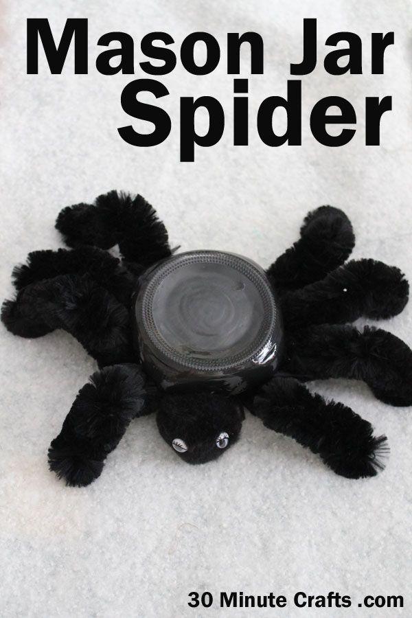 Mason Jar Spider
