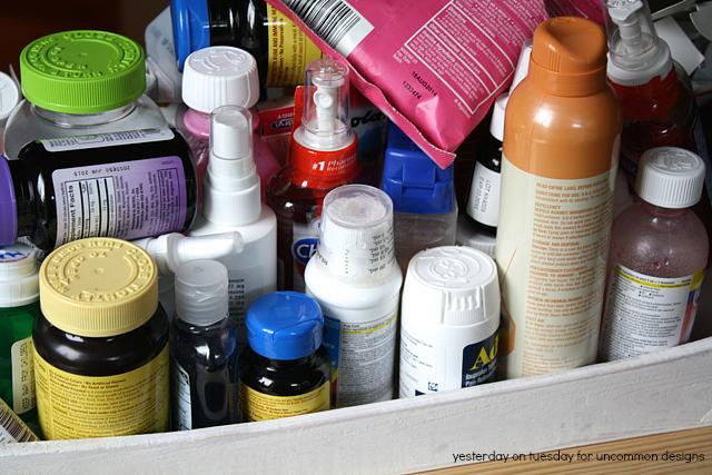 Medicine Cabinet  Bottles