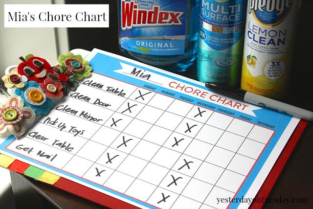 Mia's Chore Chart