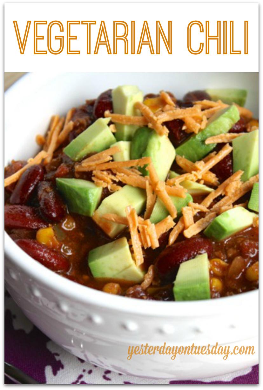 Healthy Vegetarian Chili Recipe