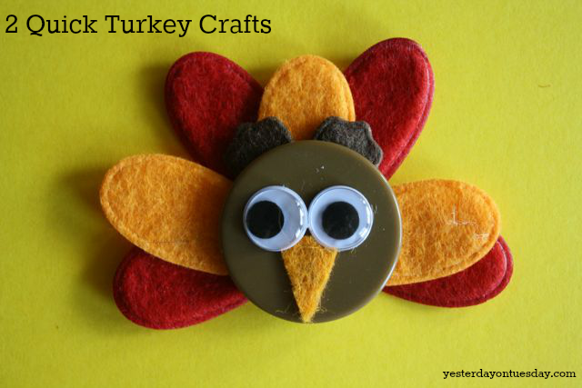 DIY Turkey Magnet from Yesterday on Tuesday