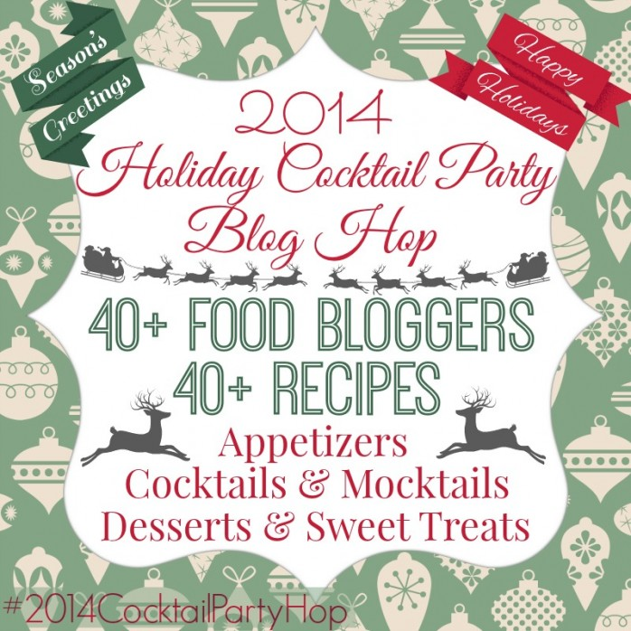 Every recipe you'll need for a successful holiday party including appetizers, cocktails, cocktails, sweets and desserts
