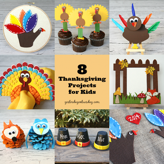 Easy and fun Thanksgiving Craft projects for Kids from https://yesterdayontuesday.com