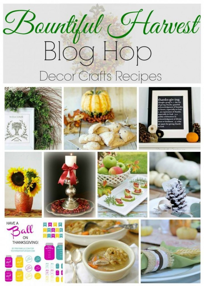 Thanksgiving Decor, Recipes and Printables