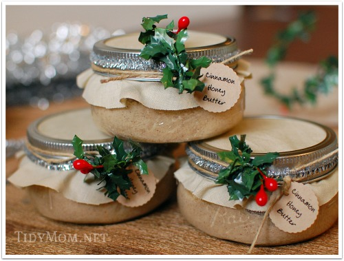 Cinnamon Honey Butter Gifts in a Jar by TidyMom