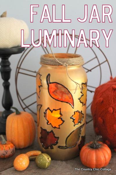 Fall Jar Luminary