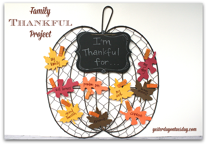 Fun Family Thankful Project for Thanksgiving