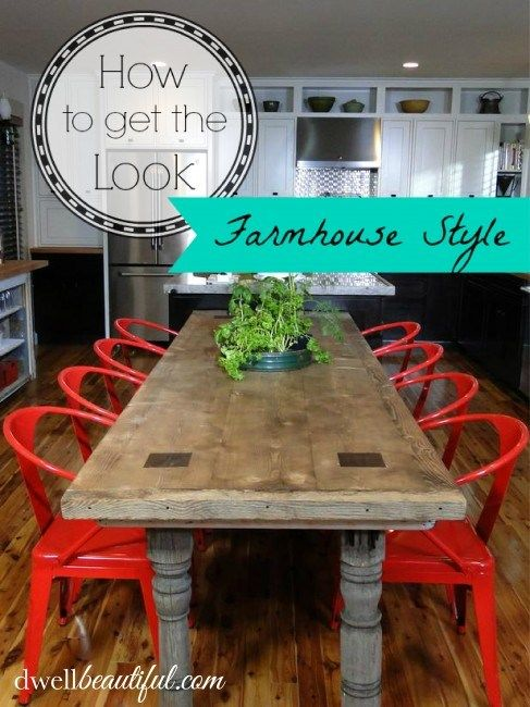 Farmhouse Table from Dwell Beautiful