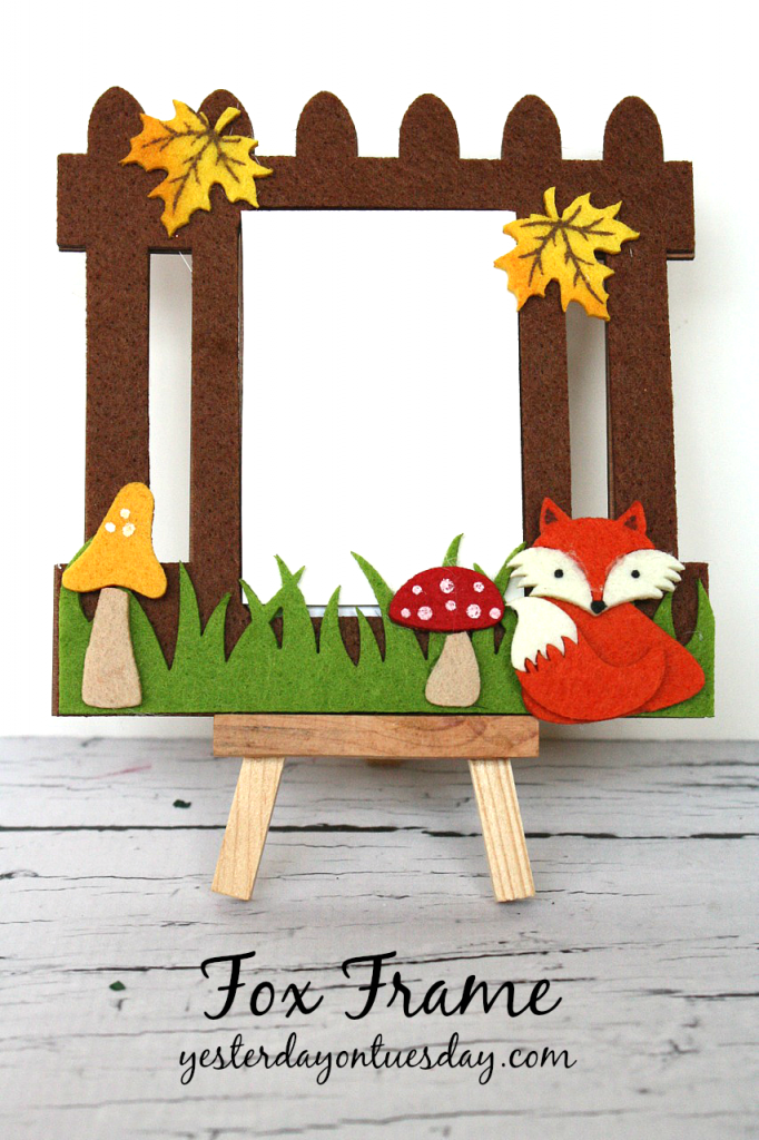 Cute fox frame from a kit