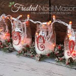 Frosted Noel Mason Jars, a cheap and easy Christmas decor idea from https://yesterdayontuesday.com