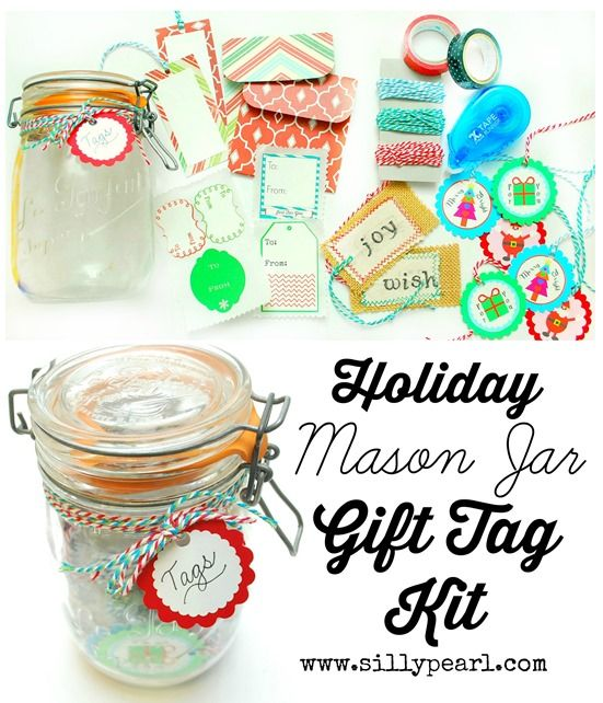 Holiday Mason Jar Gift Tag Kit from The Silly Pearl
