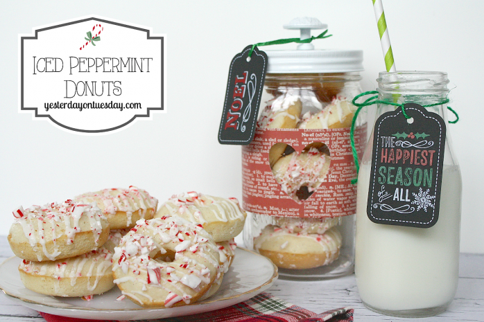 Iced Peppermint Donuts, perfect for Christmas entertaining from http//yesterdayontuesday.com