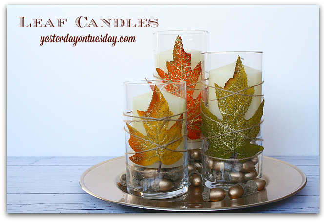 Simple and stunning Leaf Candles for Thanksgiving and Fall