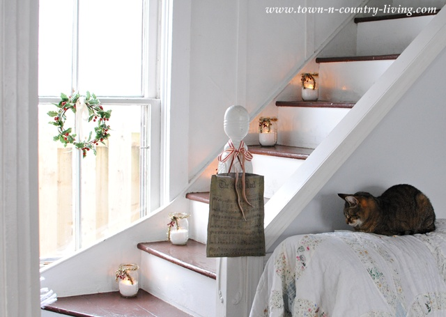 Mason Jars on Stairs