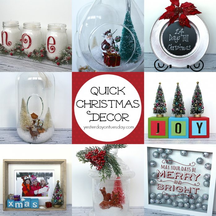 Festive ideas for Quick Christmas Decor from https://yesterdayontuesday.com