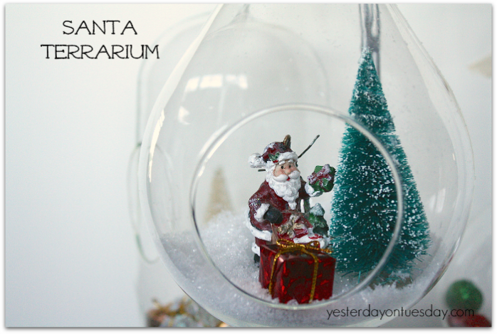 Santa Terrarium Christmas decor from https://yesterdayontuesday.