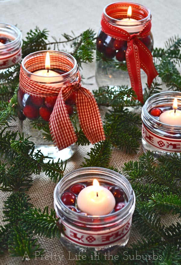 Simple Pretty Christmas Centerpieces by A Pretty Life in the Suburbs