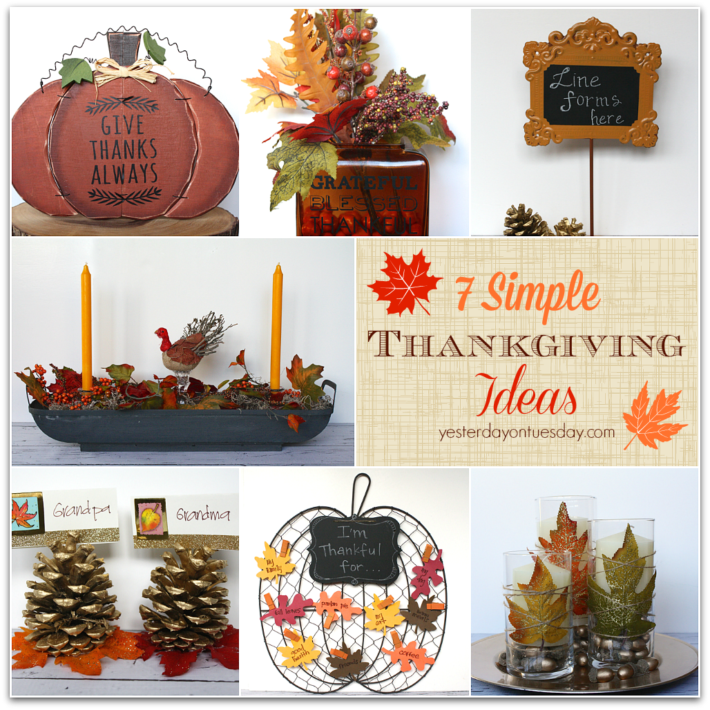 7 Simple Thanksgiving Ideas