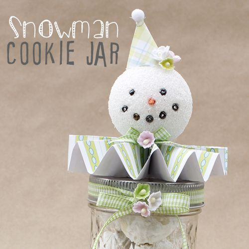Snowman Cookie Jar by The Cottage Market