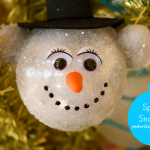 Create a Sparkly Snowman Ornament to hang on your Christmas tree from https://yesterdayontuesday.com