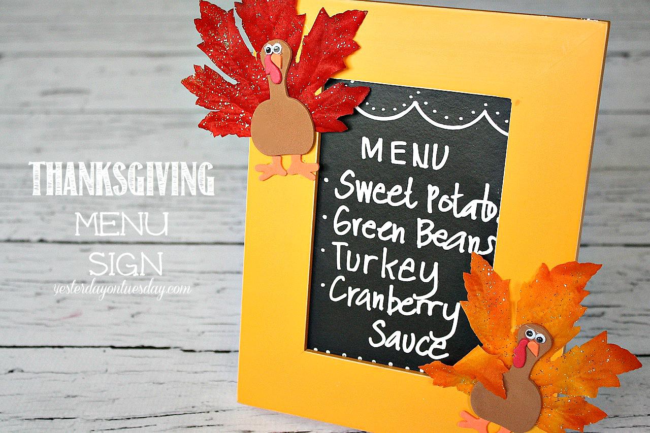 Thanksgiving Menu Sign