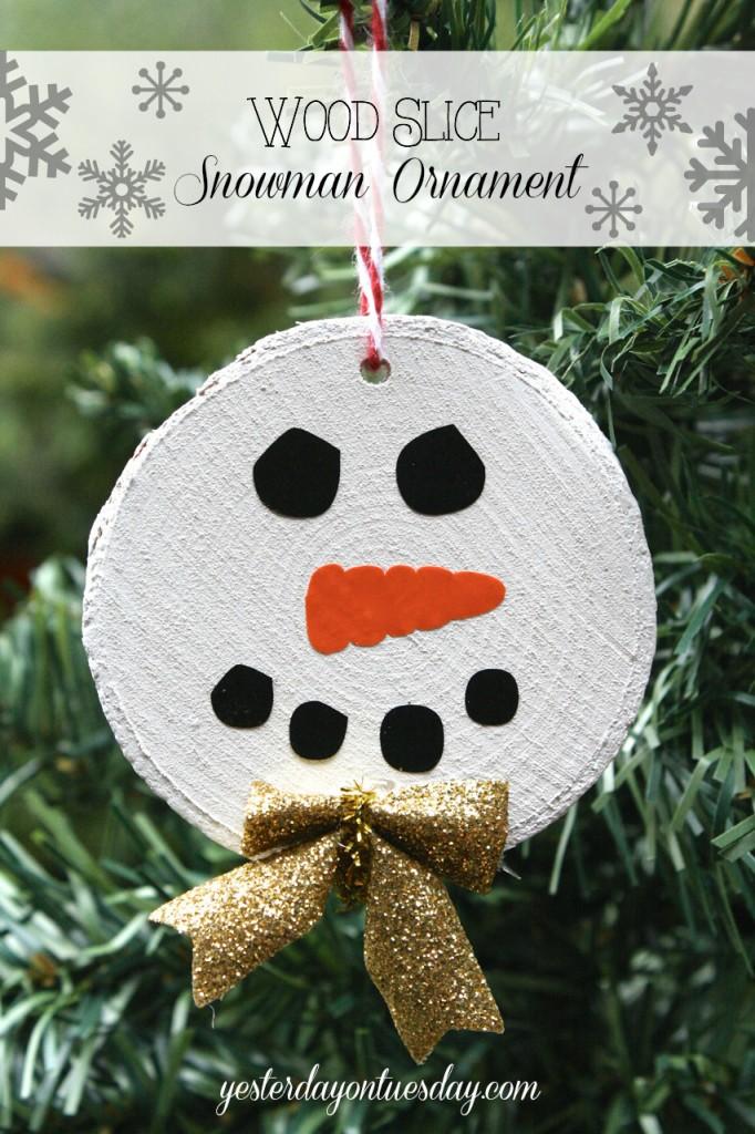 Wood Slice Ornament