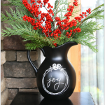 Recycle a unused pitcher into a beautiful chalkboard pitcher you can customize for any occasion from https://yesterdayontuesday.com