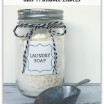 DIY Laundry Soap and printable labels from http://yesterdayontuesday.com