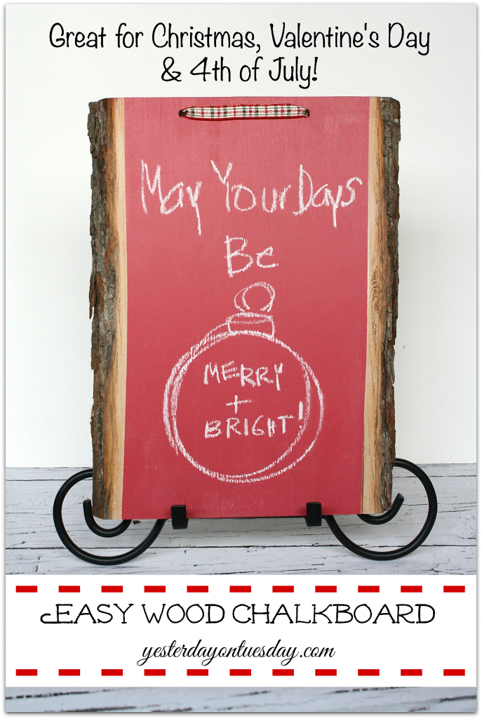 Easy Wood Chalkboard