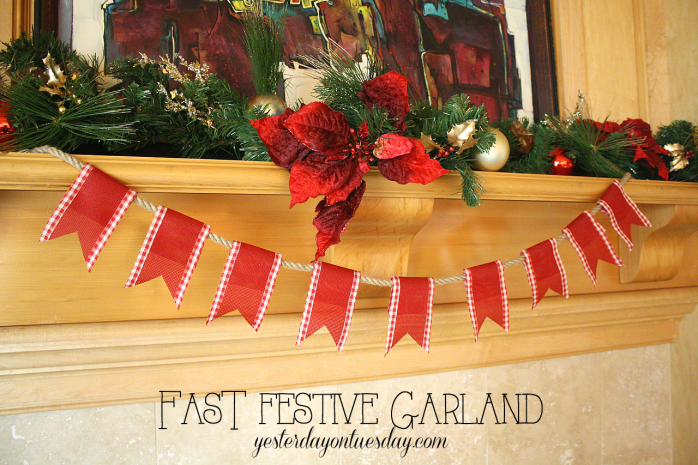 Create a fast festive garland for Christmas or any celebration