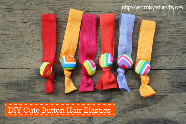 Hair Elastics, fun kid's craft from Yesterday on Tuesday