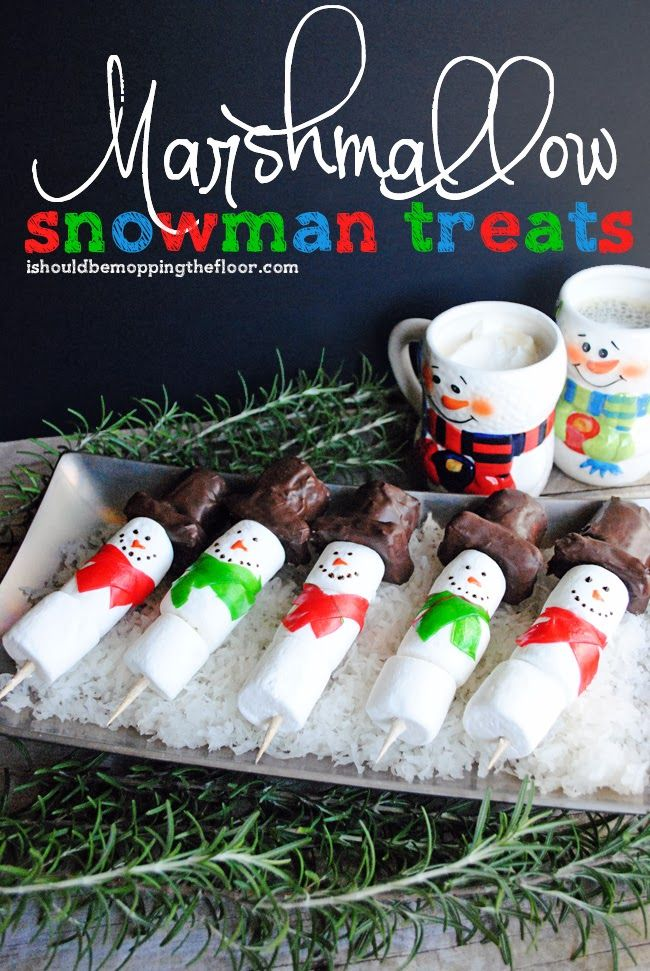 Marshmallow Snowman Treats