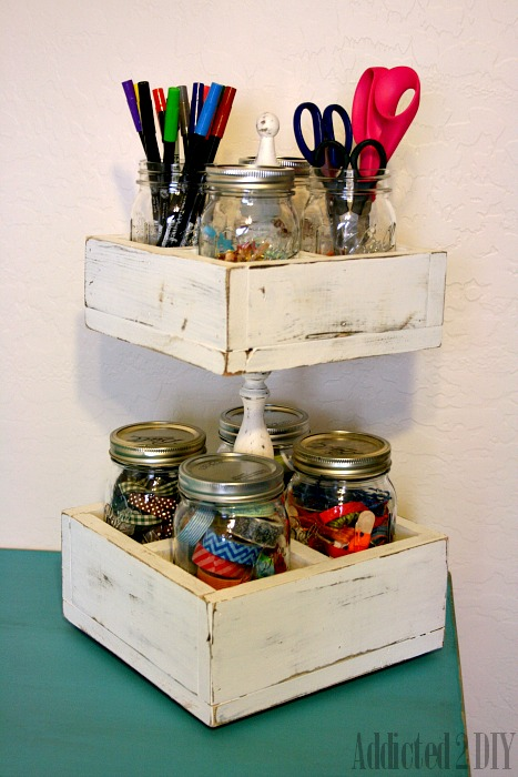 Mason Jar Craft Caddy from Addicted to DIY
