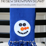 No Sew Snowman Scarf great craft for kids from https://yesterdayontuesday.com #scarf #snowman