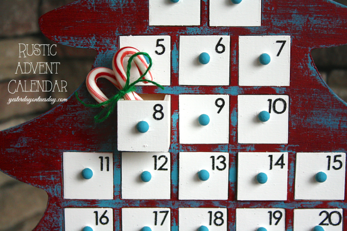 Rustic Advent Calendar for Christmas by Yesterday on Tuesday