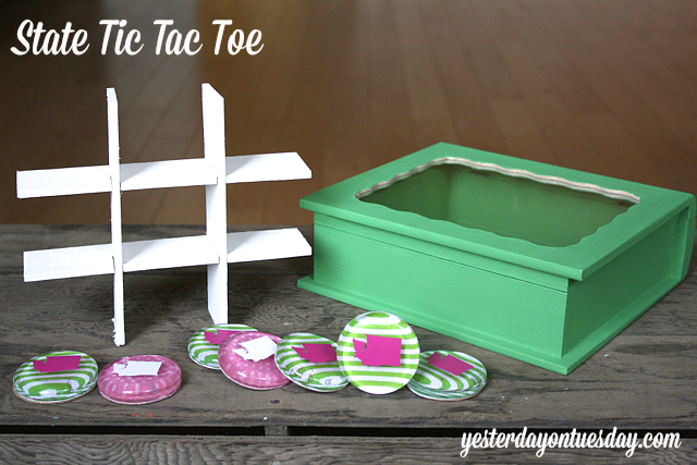 DIY Tic Tac Toe set, fun craft for kids from Yesterday on Tuesday