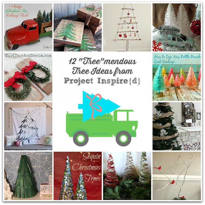 Festive Tree ideas for Christmas from Project Inspired Linky Party