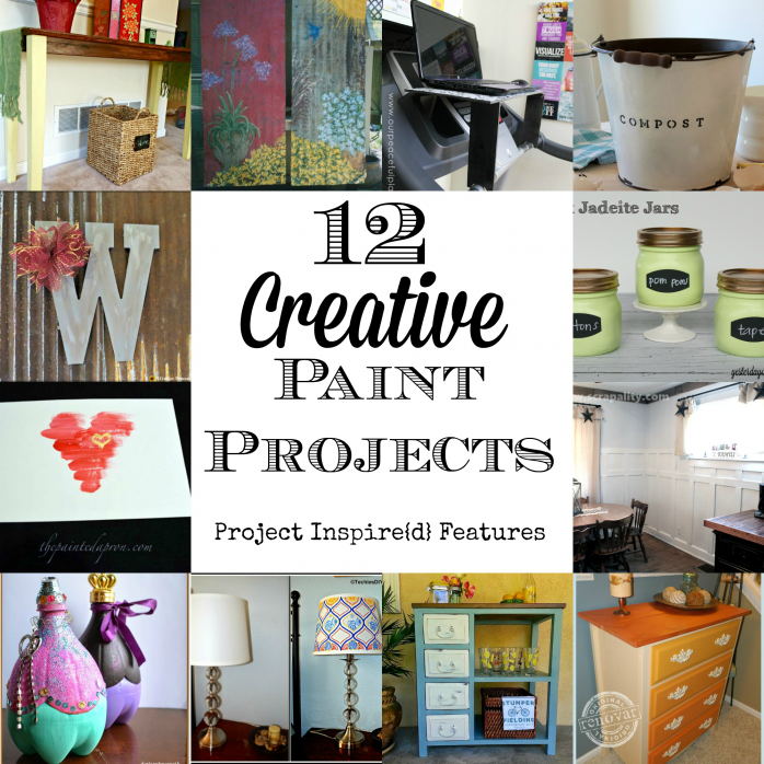 12 Creative Paint Projects via https://yesterdayontuesday.com