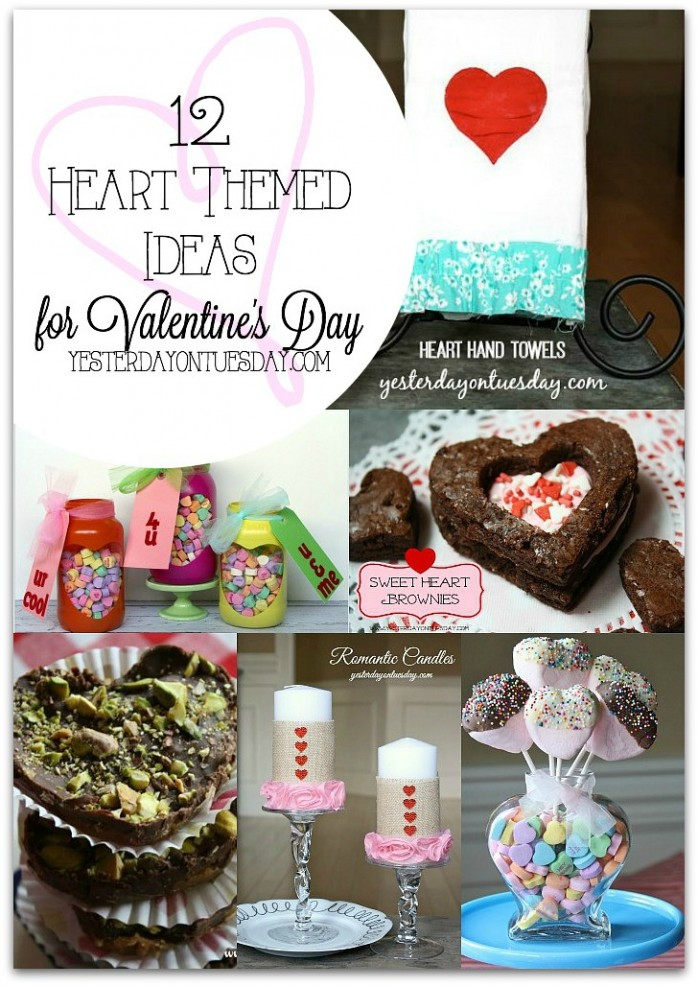 12 Heart Themed Ideas for Valentine's Day including decor, gifts and more #valentinesday