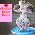 Chocolate Dipped Hearts for Valentine's Day from http://yesterdayontuesday.com #hearts #valentinesday