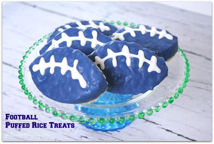 Football Puffed Rice Treats #seahawks