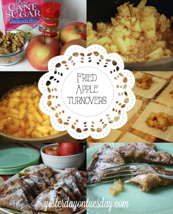 Delicious Fried Apple Turnover Recipe from https://yesterdayontuesday.com #appleturnover #applerecipes
